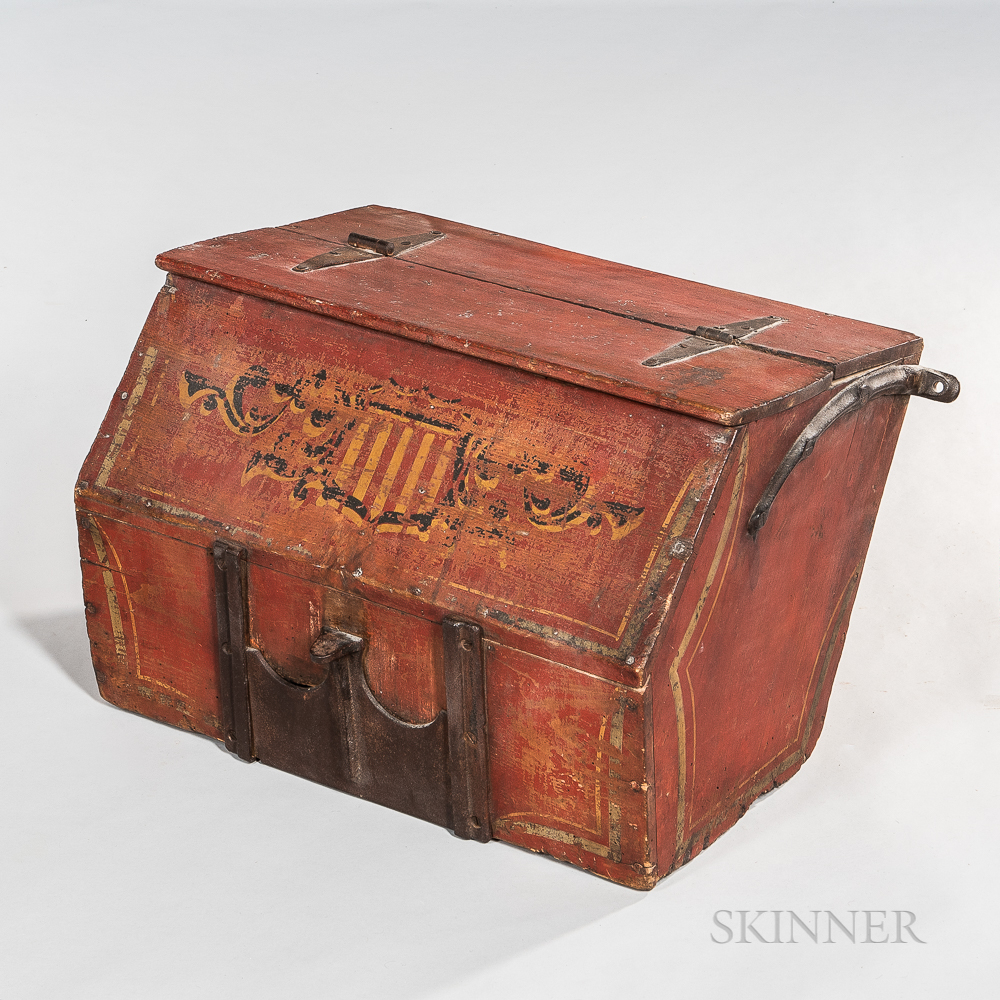 Red-painted Wagon Box