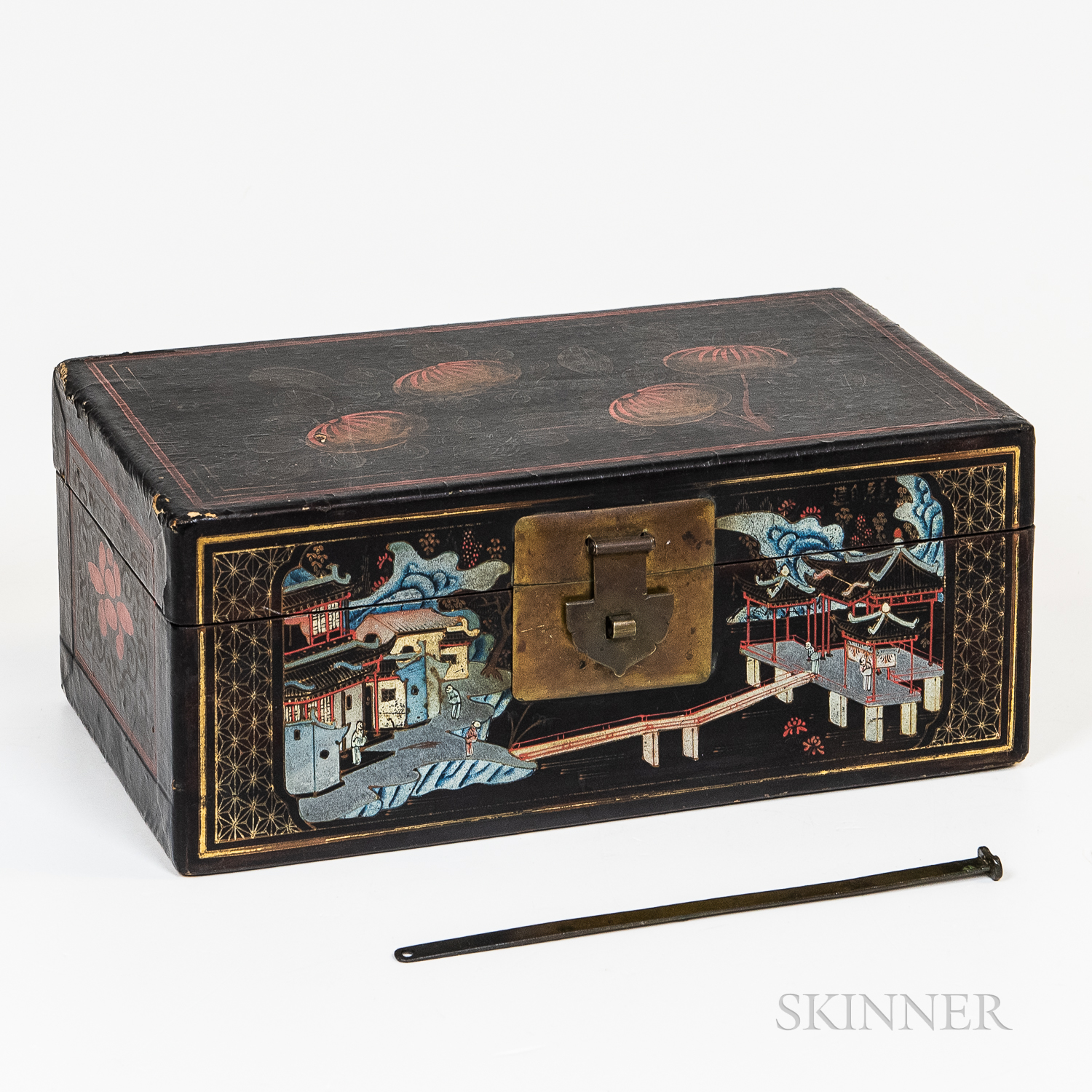 Painted Black-lacquered Box