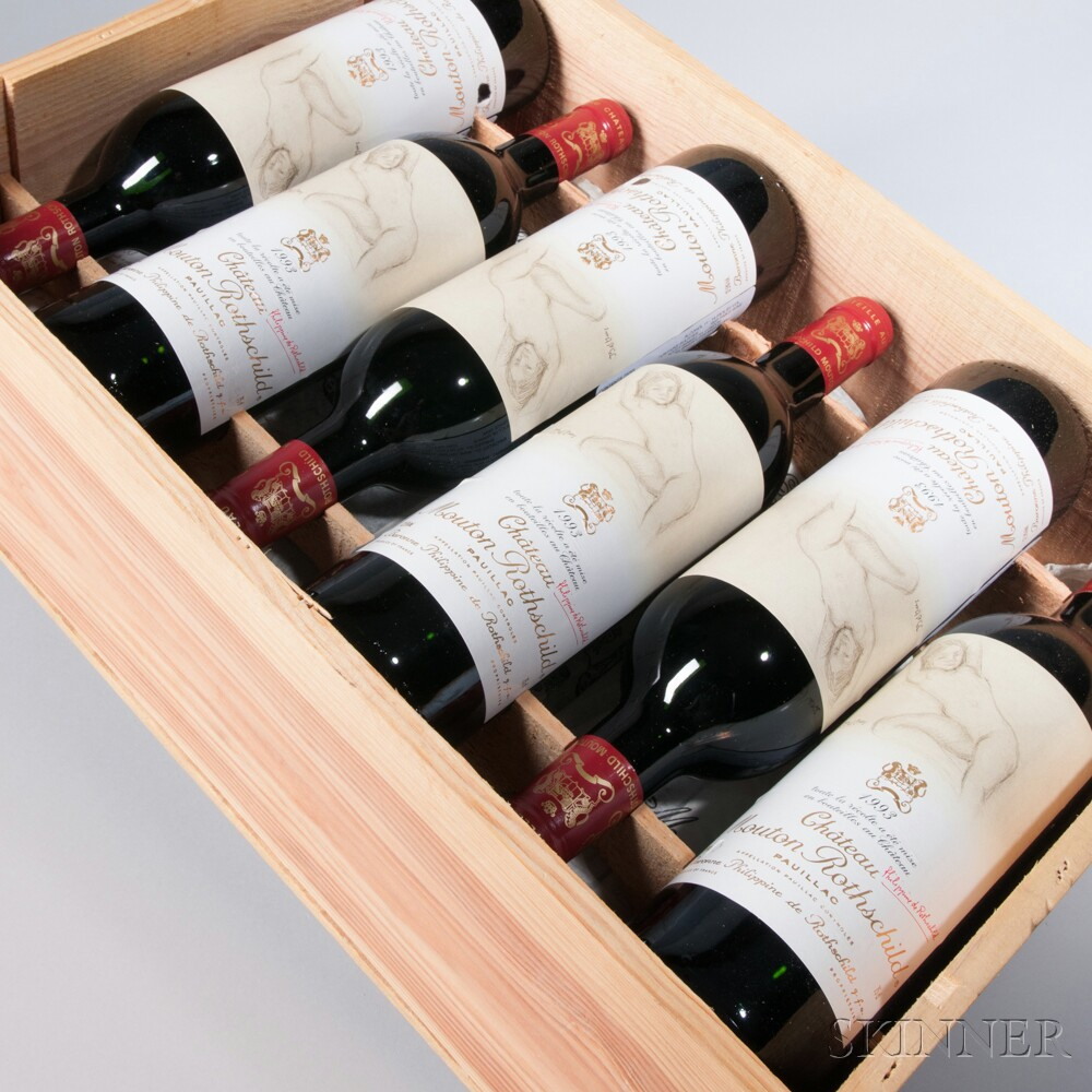 Chateau Mouton Rothschild 1993, 12 bottles (owc)