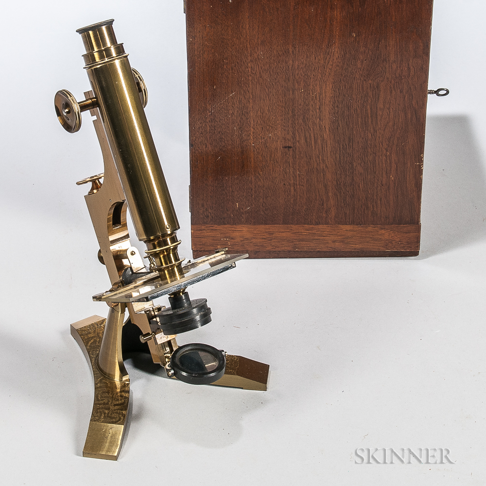J. Zentmayer Lacquered Brass Compound Microscope