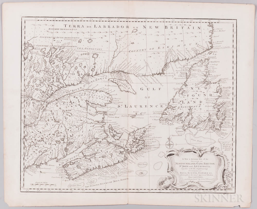 Canada and the Great Lakes, Seven Maps, 18th Century.