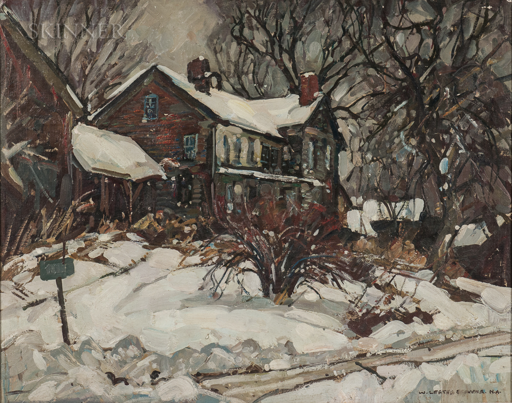 William Lester Stevens (American, 1888-1969)      House in Snow