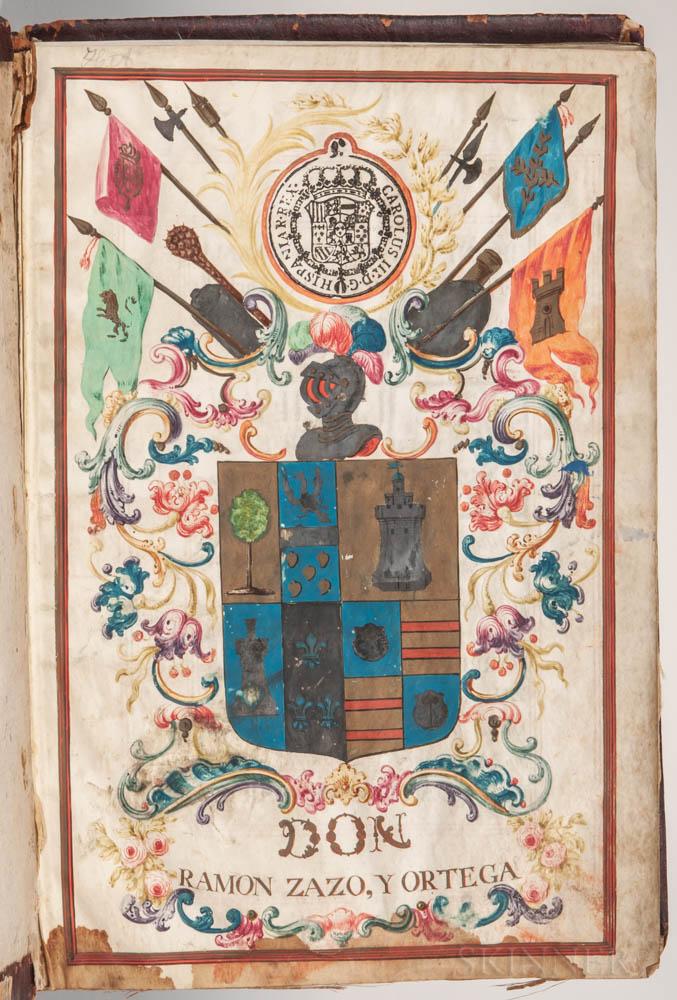 Manuscript on Parchment, Grant of Nobility, Spain, 1776.