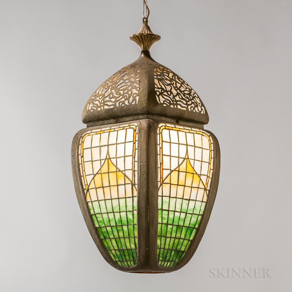 Leaded Glass Hanging Lantern