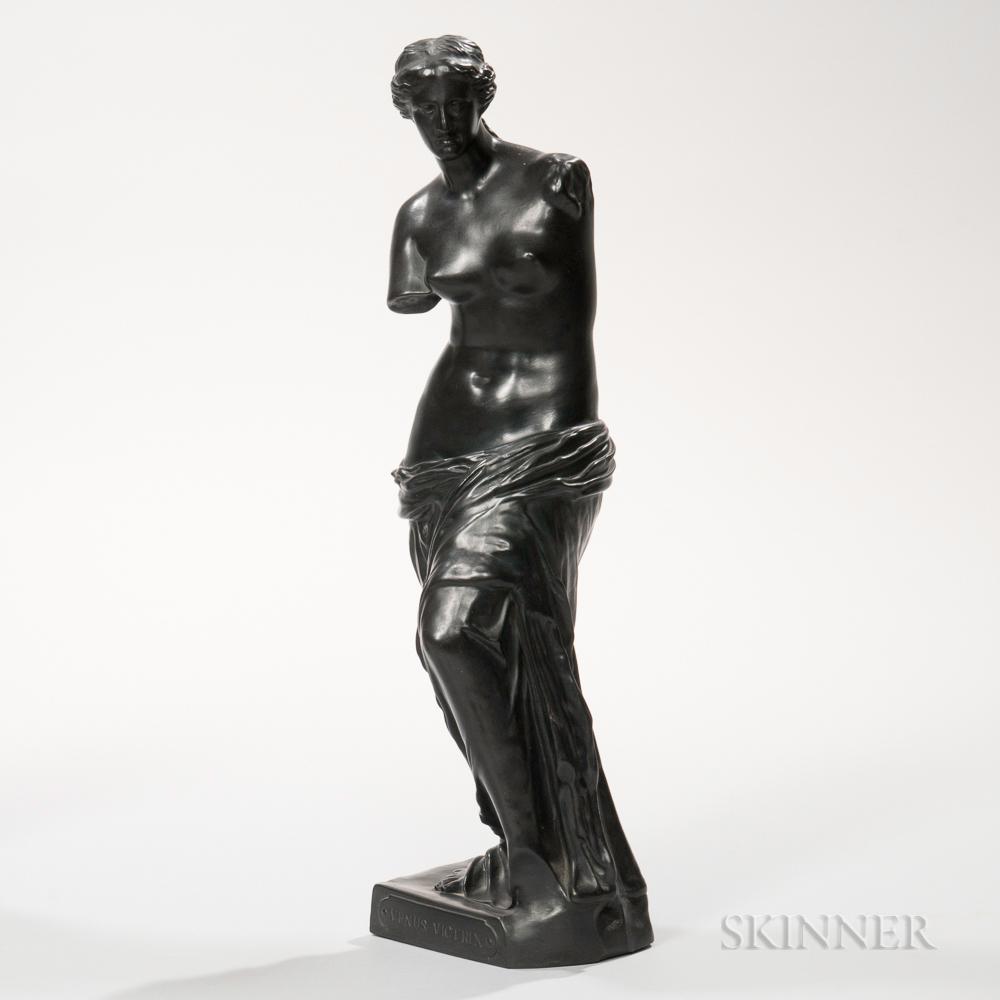 Wedgwood Black Basalt Figure of Venus Victrix