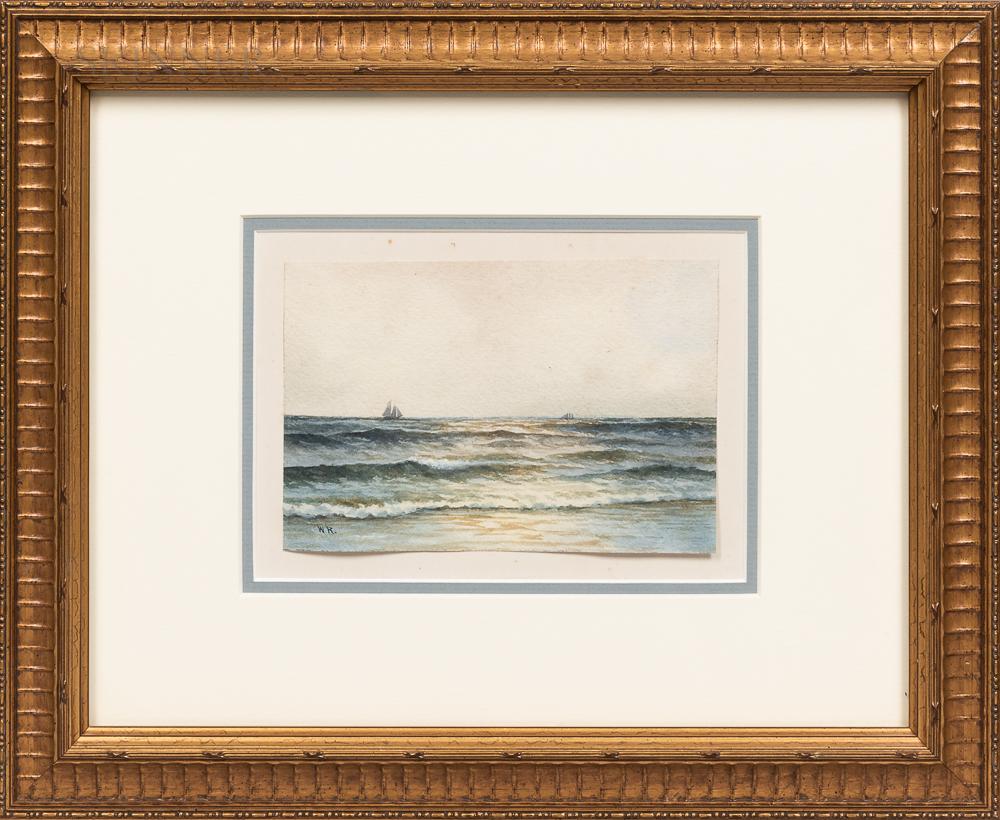 Four Framed Landscapes:      Frederick W. Oliver (American, 1876-1963), Harbor