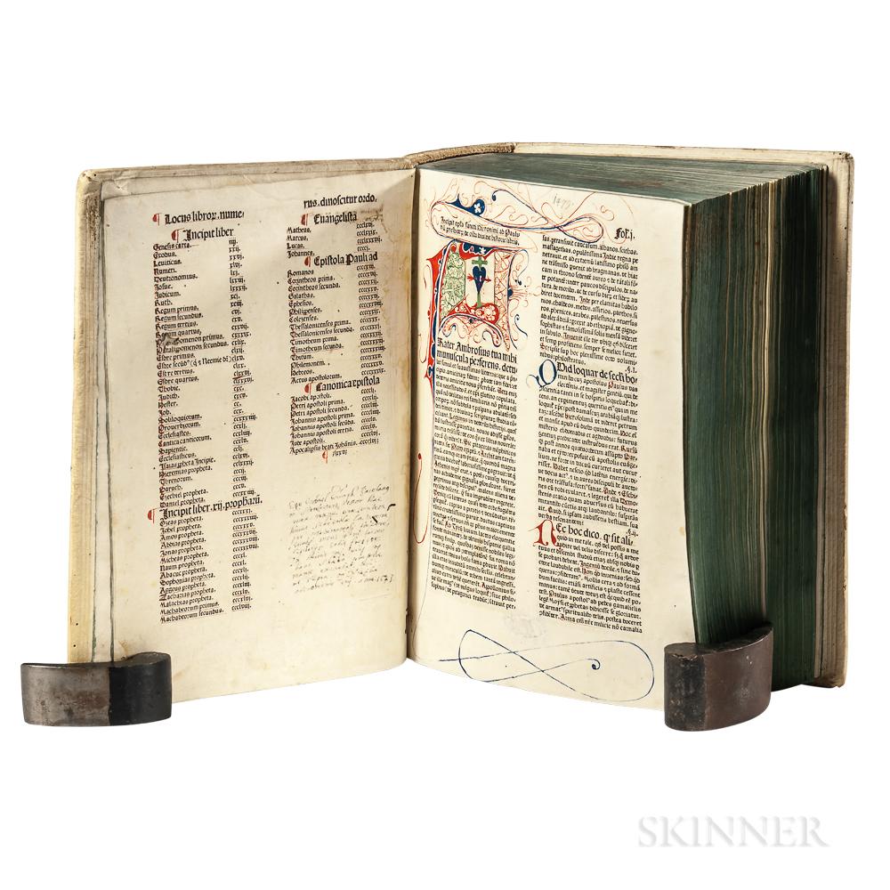 Bible, Latin. Biblia Latina   with Additions by Menardus Monachus.