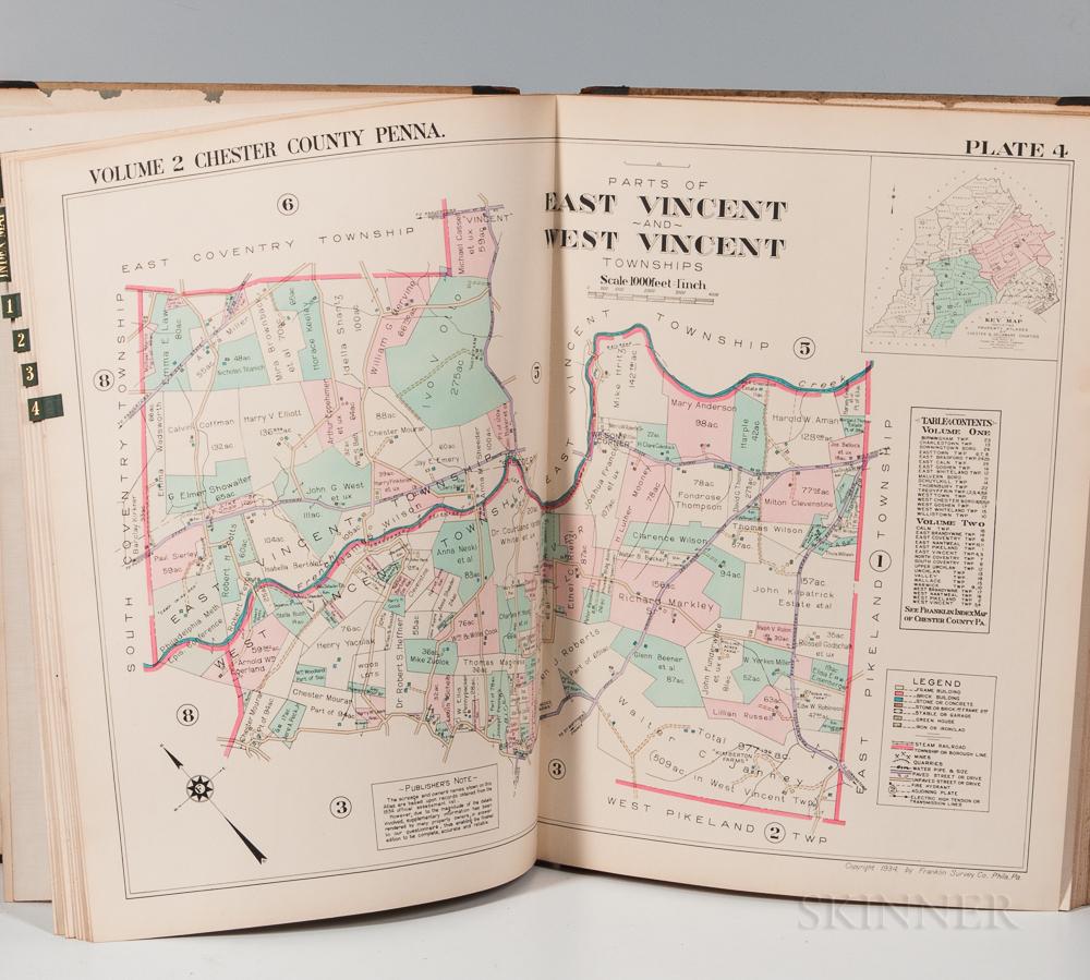 Pennsylvania. Property Atlas of Chester County, Penna. Volume Two.