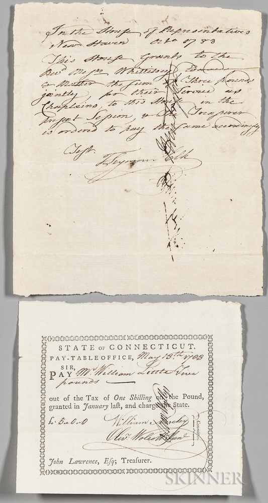 Two American Revolutionary Wartime Documents