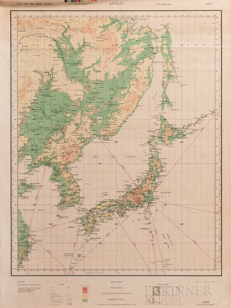 Middle East and Far East, a Group of 20th Century Maps.