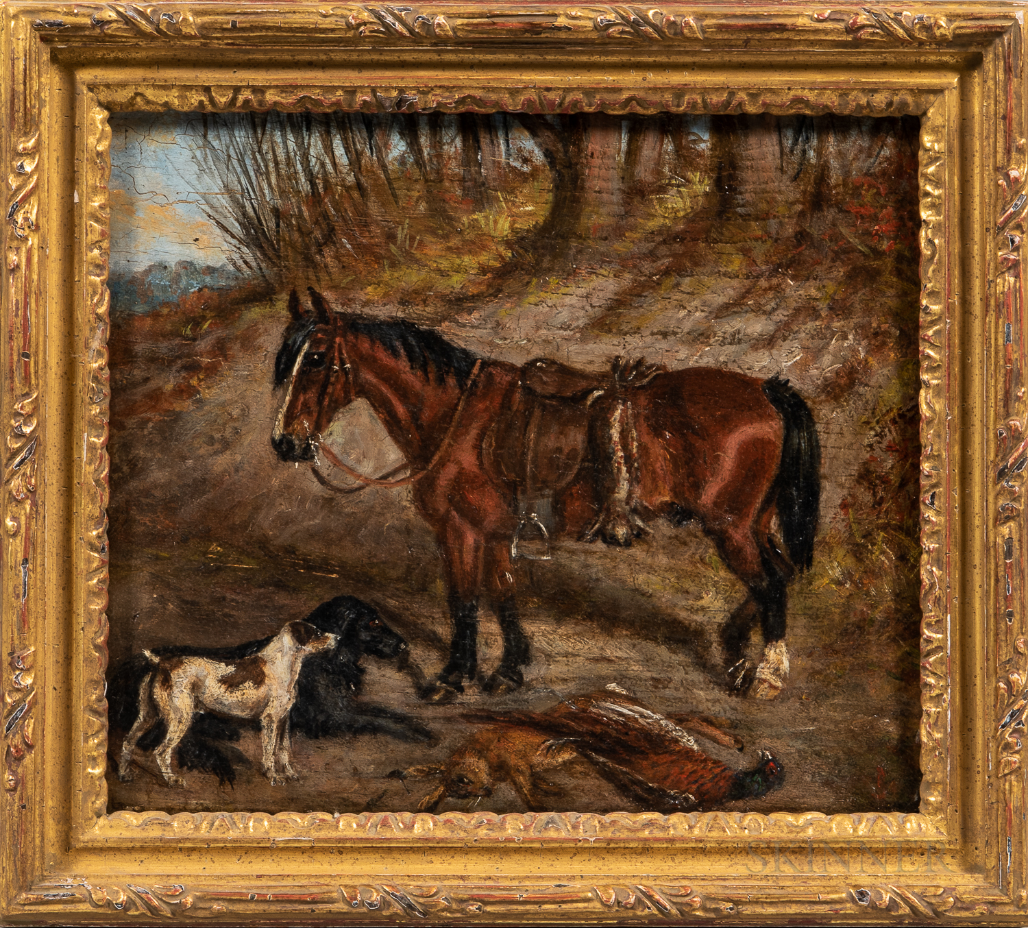 British School, 18th and 19th Century      Four Small Paintings of Horses