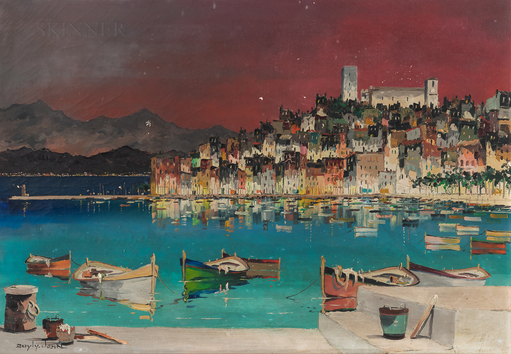 Cecil Rochfort D'Oyly-John (British, 1906-1993)      The Harbor at Cannes