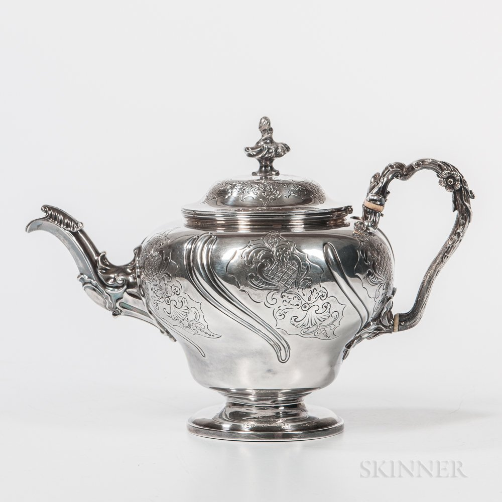 George IV Sterling Silver Teapot