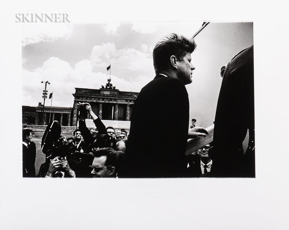 Will McBride (American, 1931-2015)    John F. Kennedy before the Brandenburg Gate, Berlin, 1963