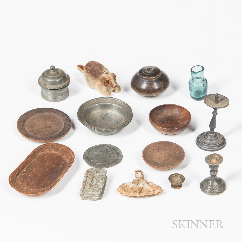 Fifteen Miniature Household Items