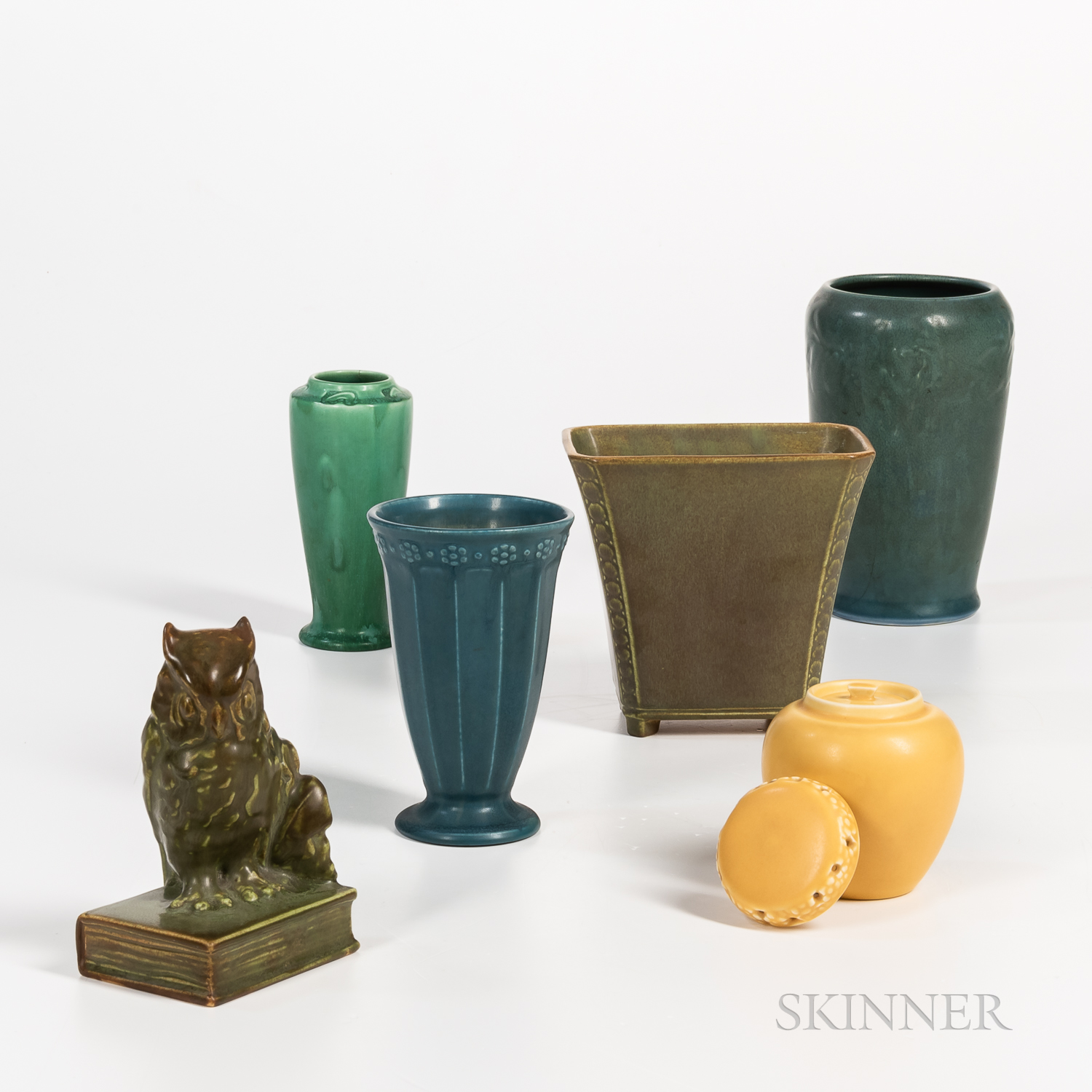 Six Pieces of Rookwood Pottery