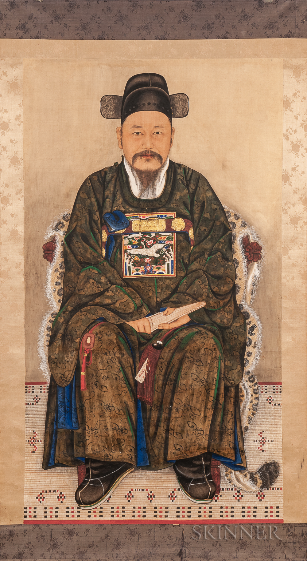 Hanging Scroll Portrait of a Young Official