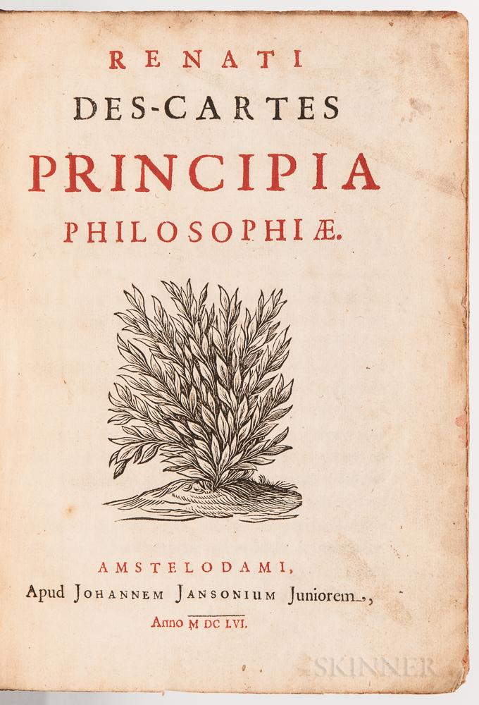 Descartes, Rene (1596-1650) Opera Philosophica: Principia Philosophiae; Specimina Philosophiae