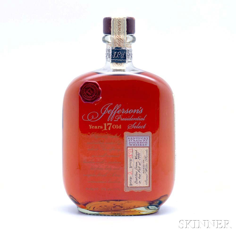 Jeffersons Bourbon 17 Years Old 1991, 1 750ml bottle
