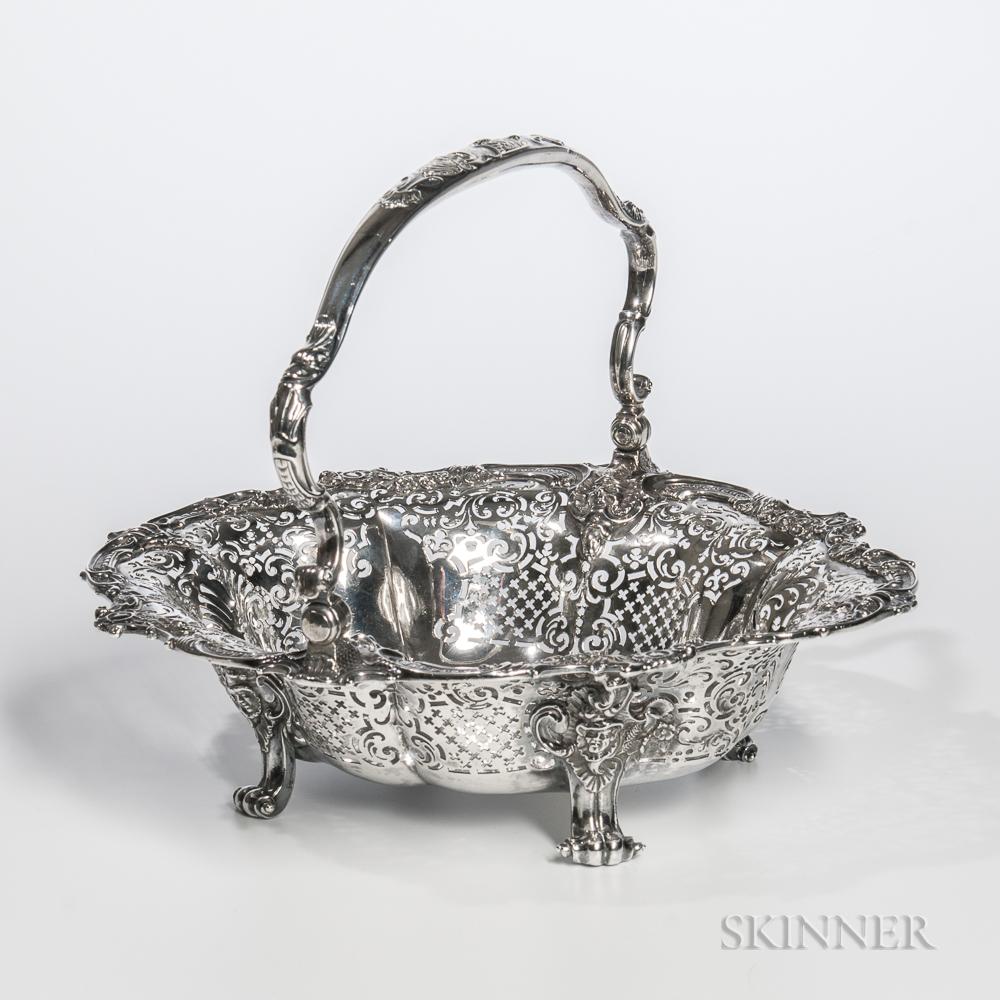 George II Sterling Silver Cake Basket