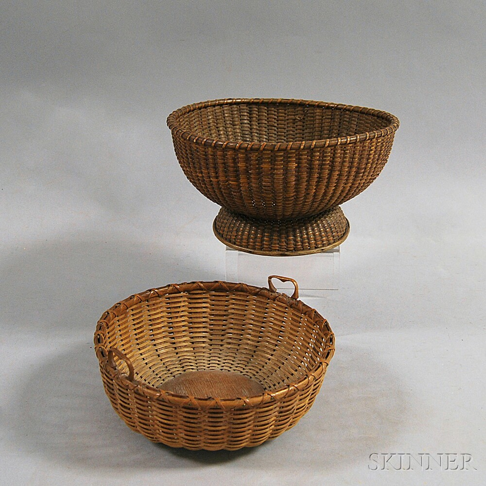 Two Nantucket Basketry Bowls