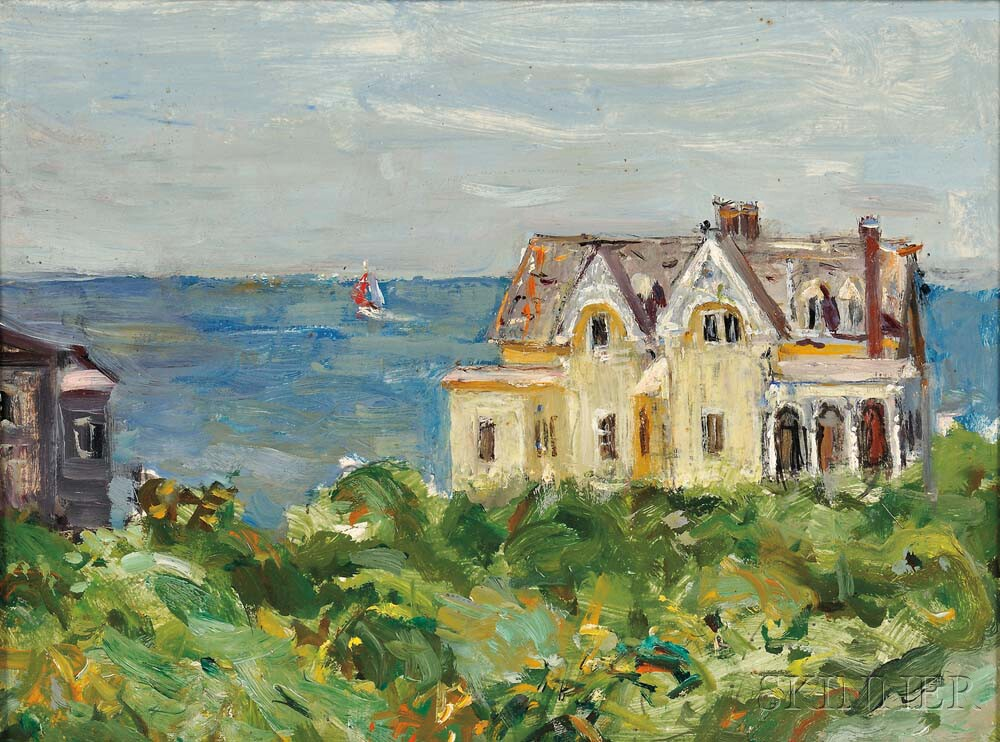 Vladimir Lebedev (Russian/American, 1910-1991)      Mansion by the Sea