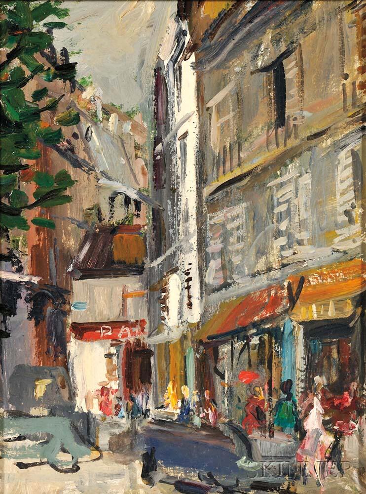 Vladimir Lebedev (Russian/American, 1910-1989)      City Street Scene