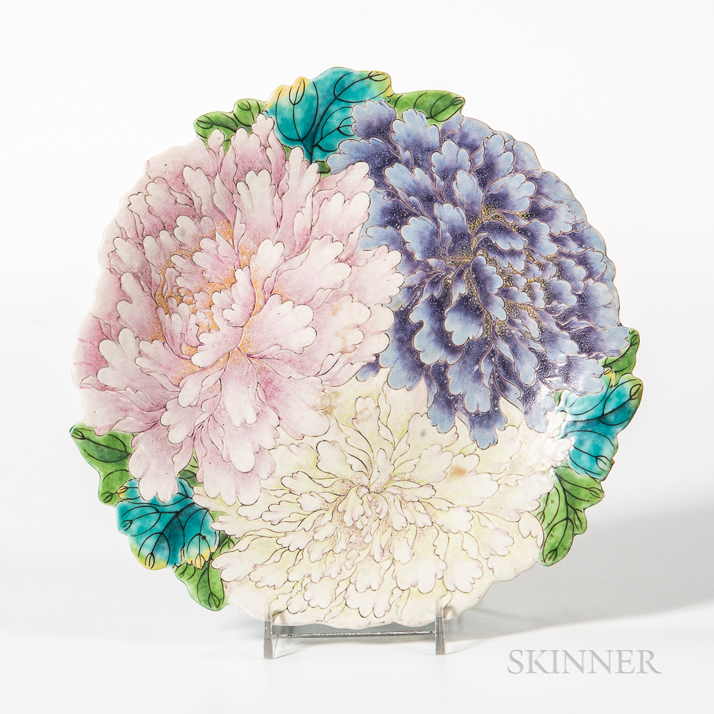 Export Porcelain Peony Plate