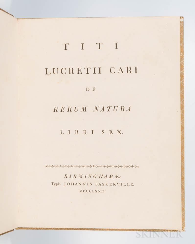 Lucretius (99-55 BC) De Rerum Natura Rerum Libri Sex.