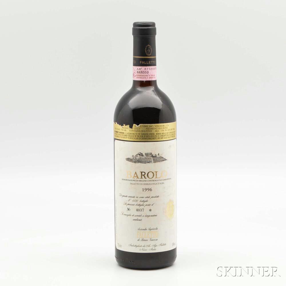 Bruno Giacosa Barolo Falletto di Serralunga dAlba 1996, 1 bottle