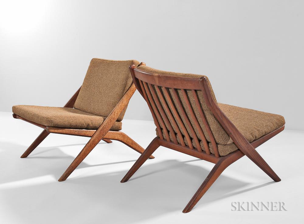 Two Folke Ohlsson for Dux Scissor Chairs