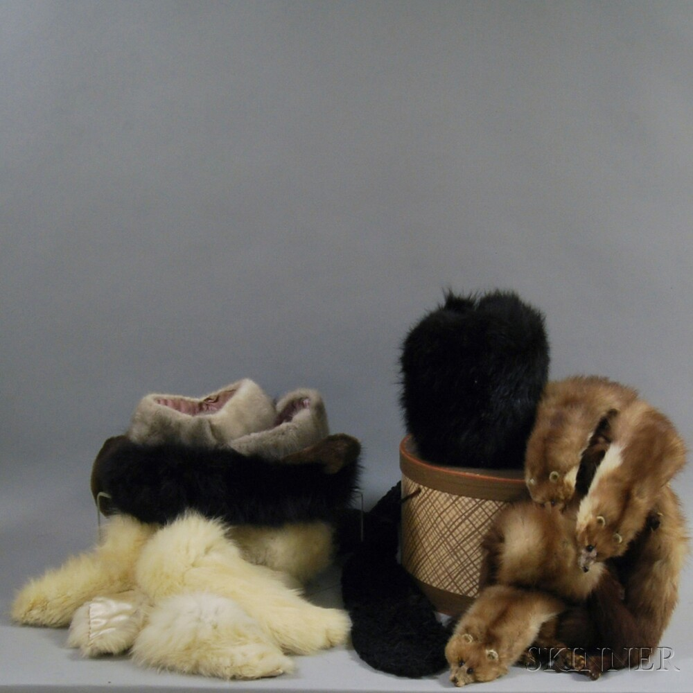Large Group of Fur Lady's Fashion Accessories