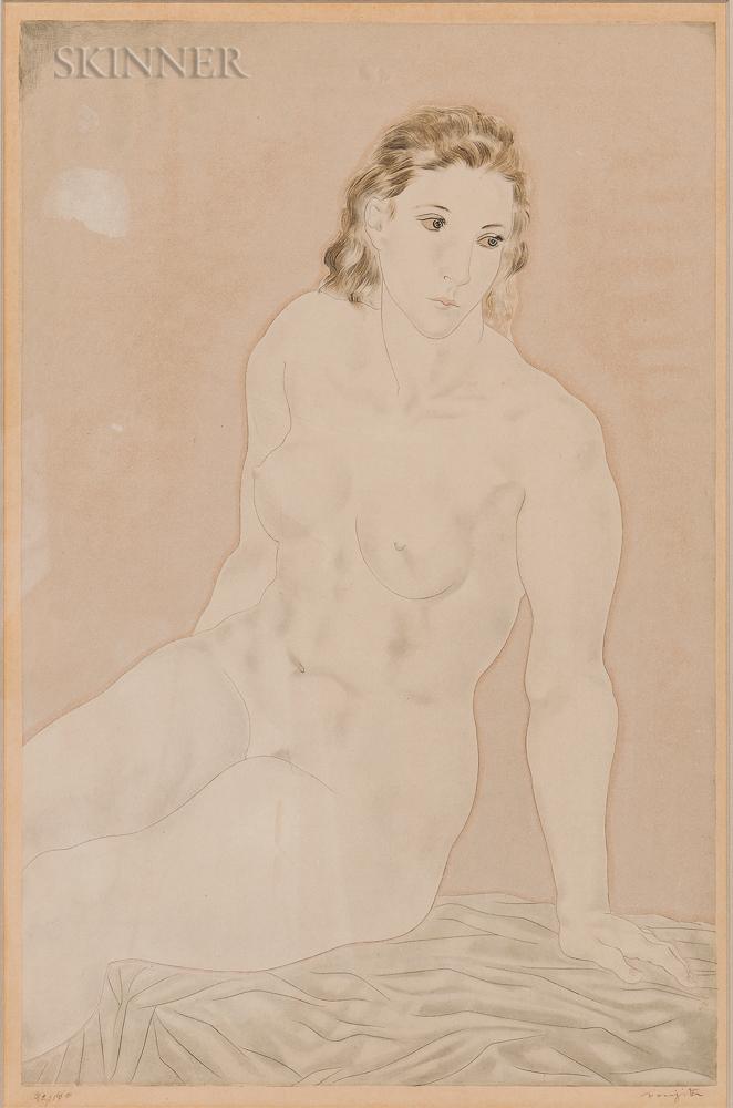 Léonard Tsuguhara Foujita (Japanese/French, 1886-1968)      Nu assis