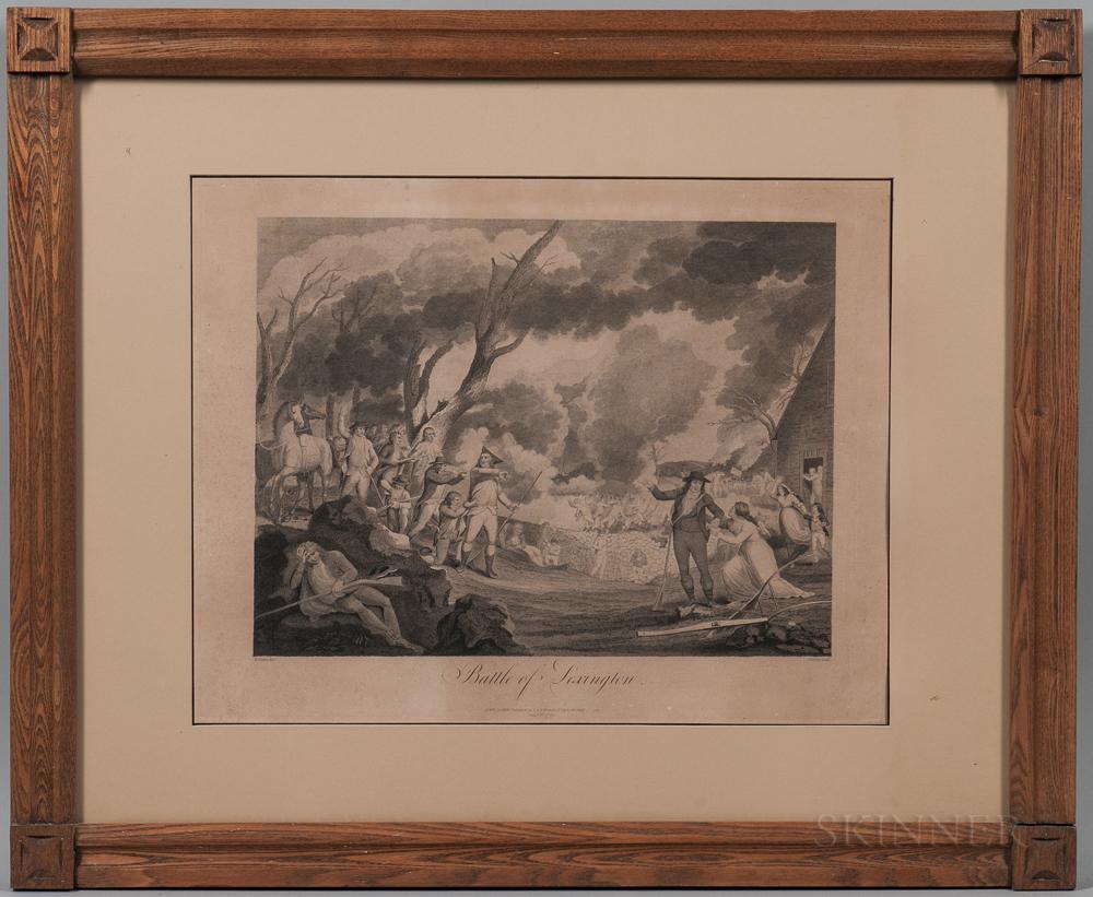 After Elkanah Tisdale (New York, act. 18th Century)    Battle of Lexington