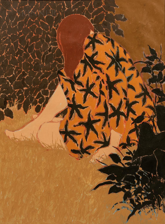 William Anzalone (American, b. 1935)      Woman in Orange