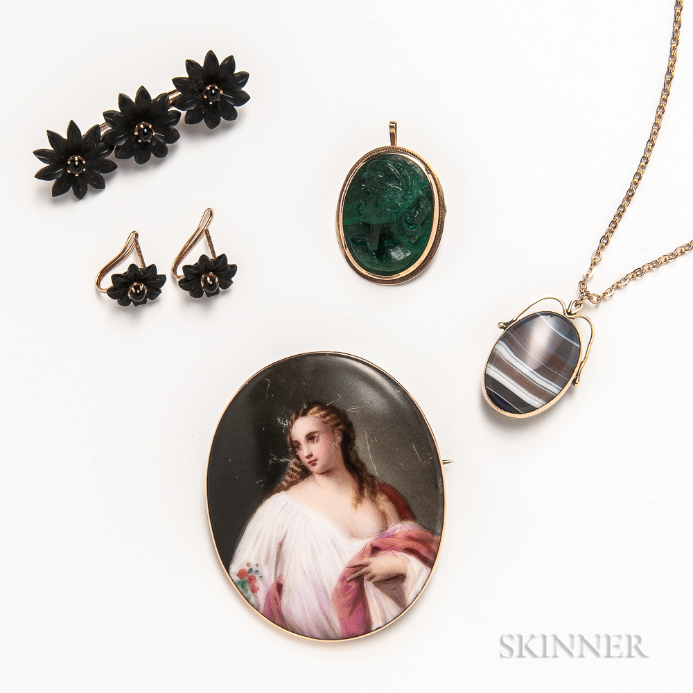 Five Pieces of Antique Jewelry