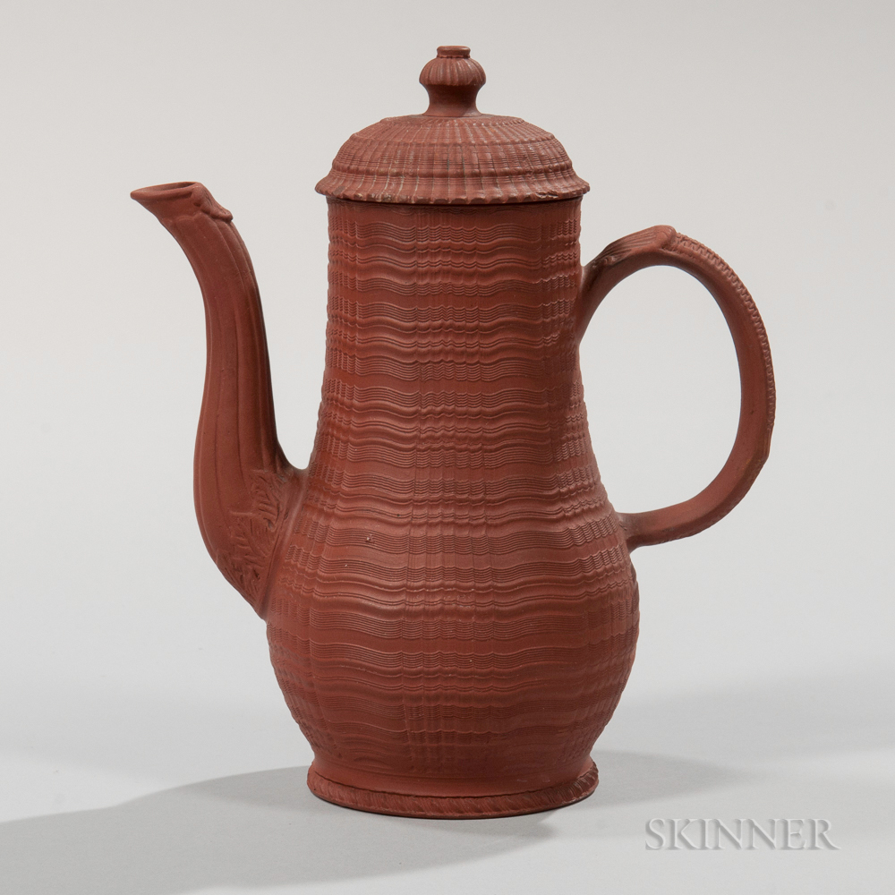 Staffordshire Redware Coffeepot and Cover