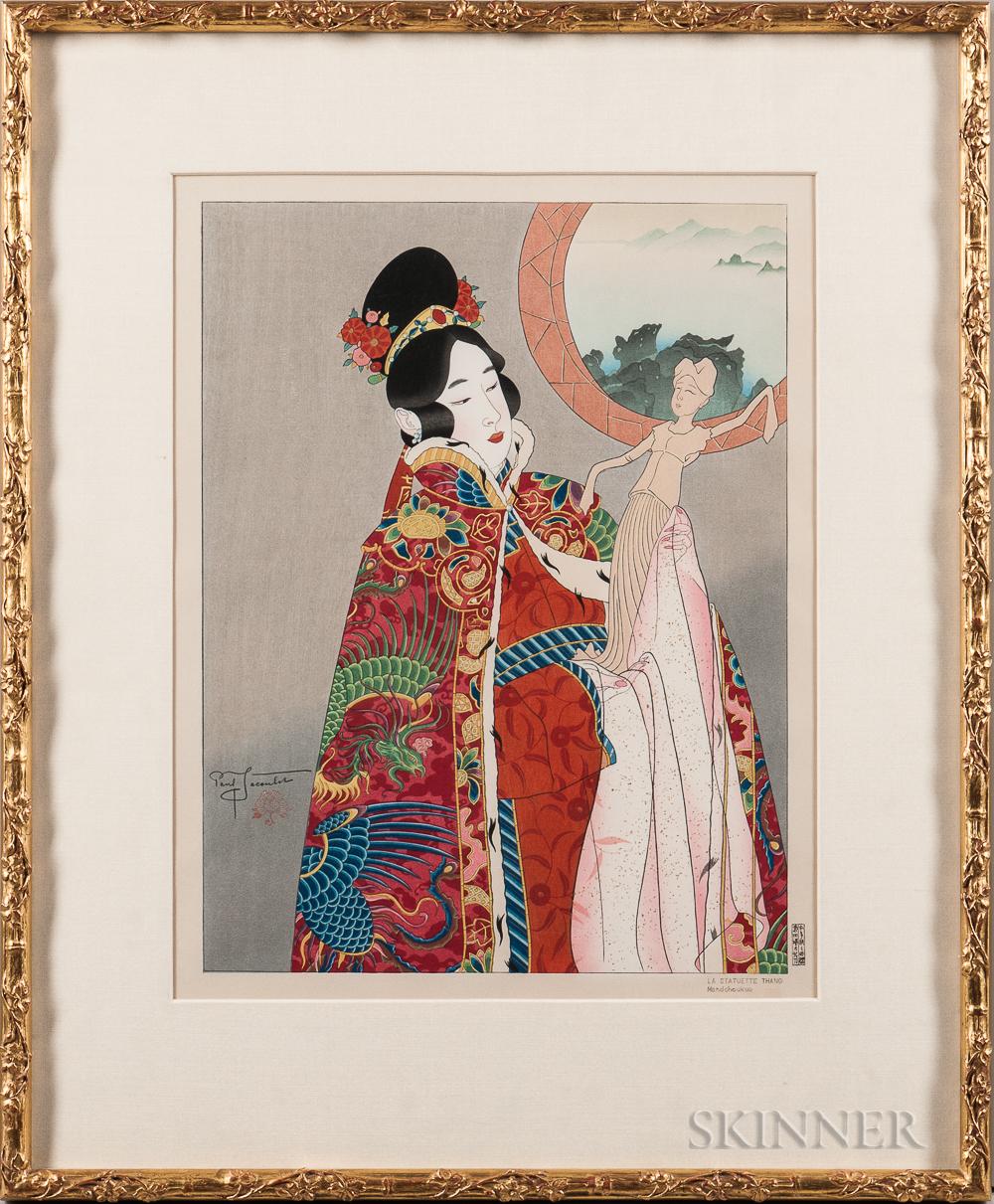 Paul Jacoulet (1896-1960), La Statuette Thang Manchoukuo