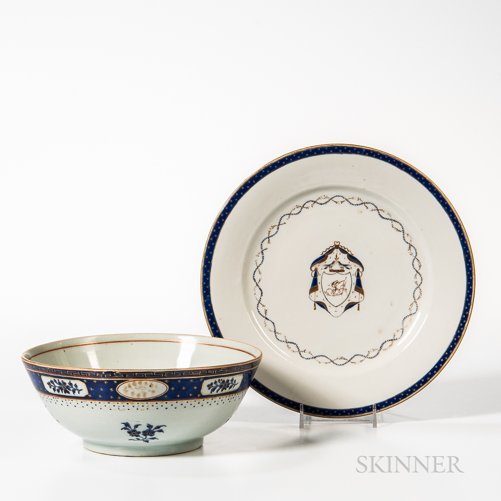 Export Porcelain Plate and Bowl