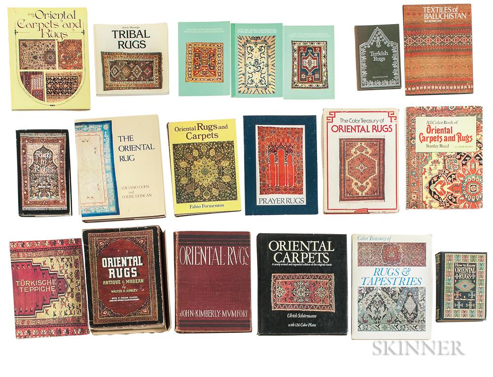 Twenty Two Oriental Rug Books