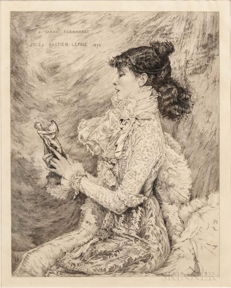 Bernhardt, Sarah (1844-1923) Three Items.