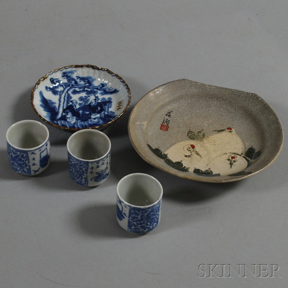 Five Japanese Ceramic Items
