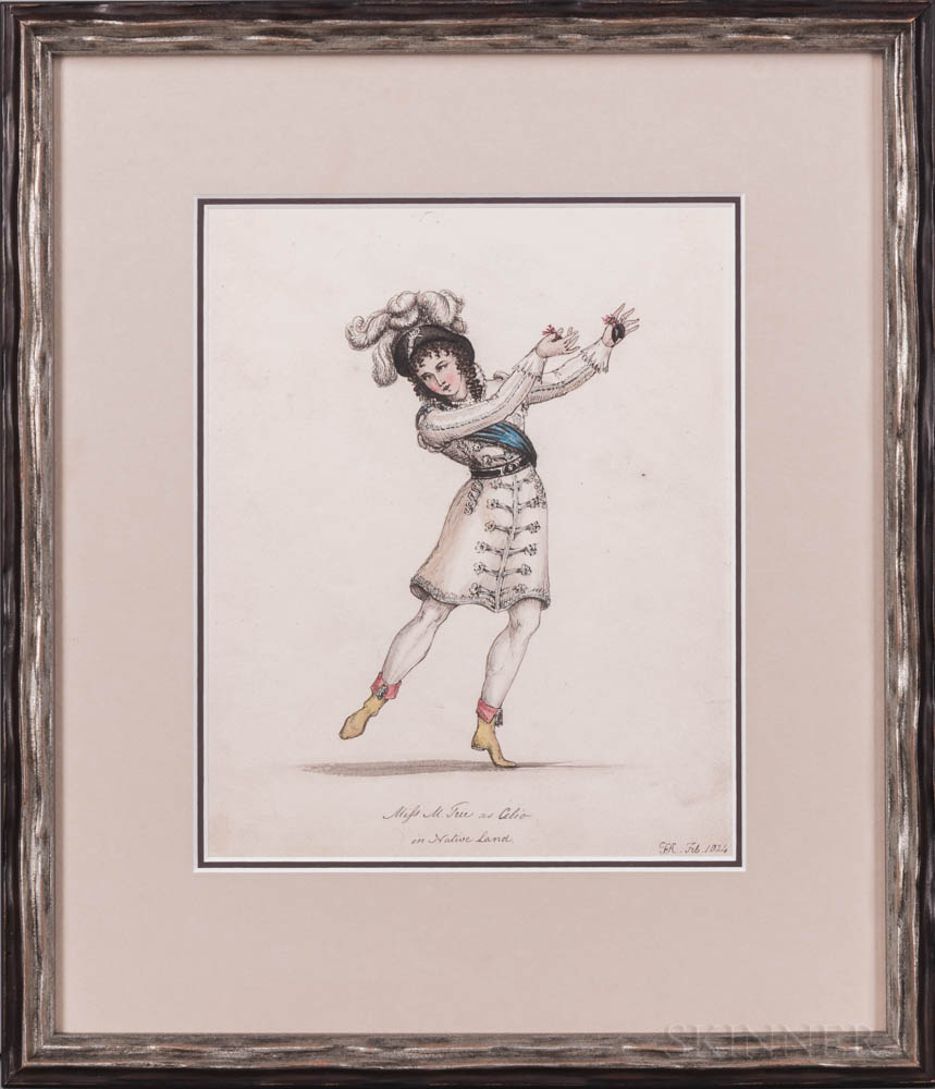 Caricatures, Prints and Drawings, Five Examples.