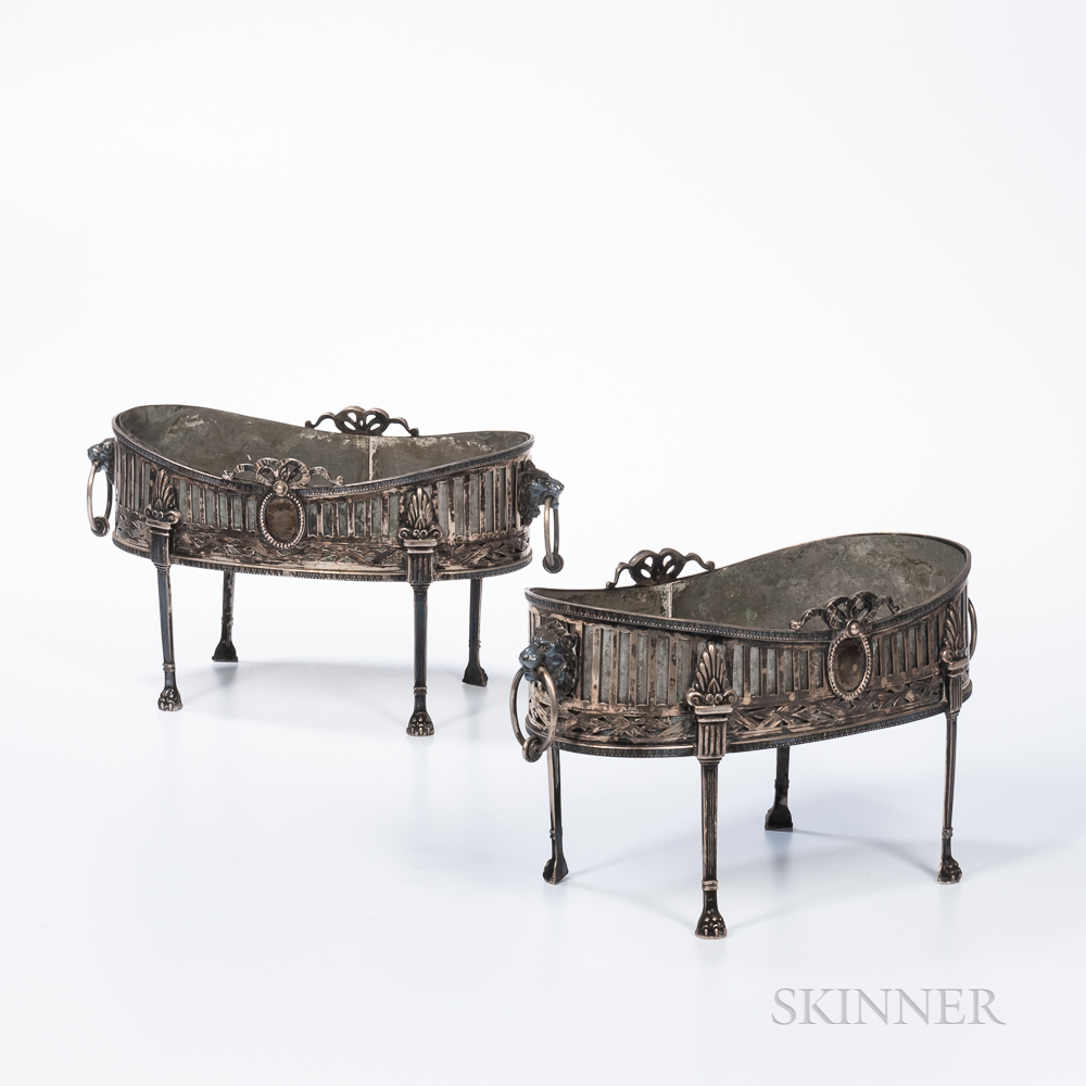 Pair of German .800 Silver Centerpieces