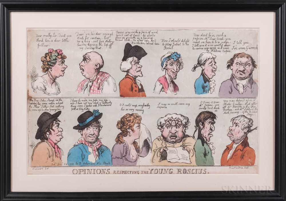 Caricatures, Five Examples and Three Other Prints.