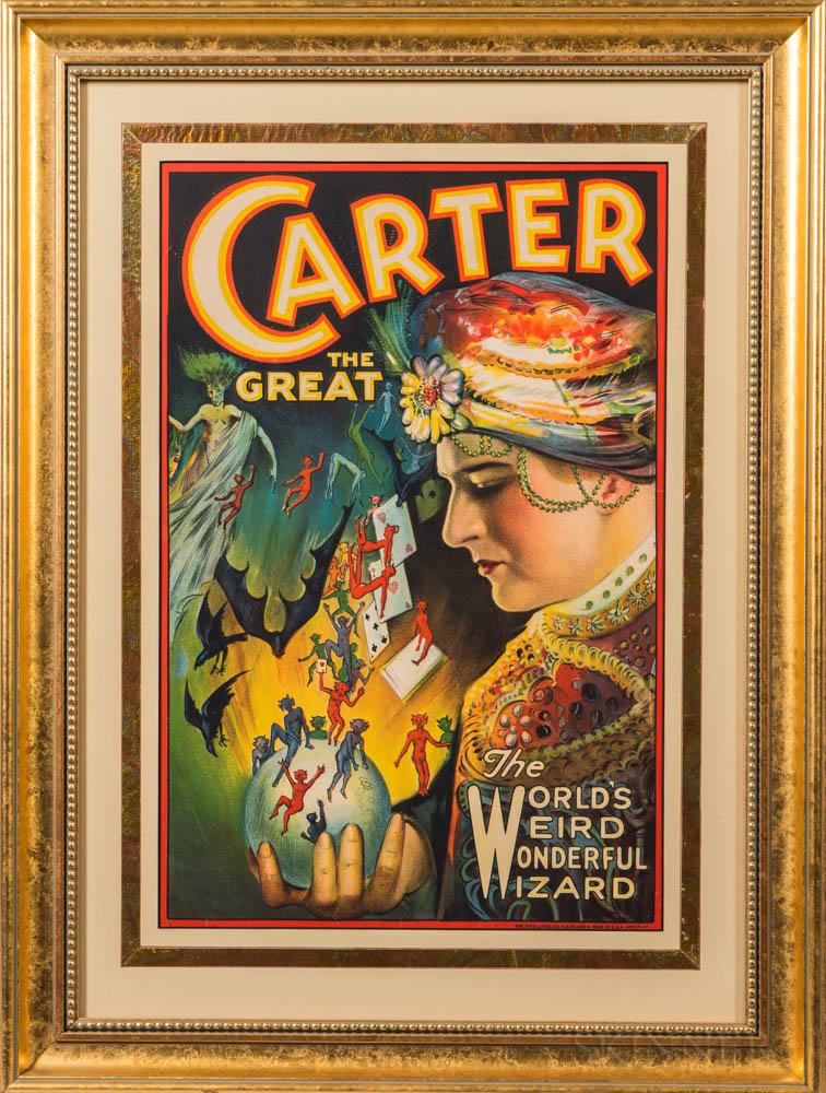 Carter the Great, the World's Weird Wonderful Wizard.