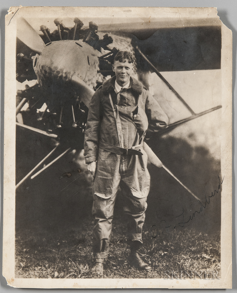 Lindbergh, Charles (1902-1974) Signed Photograph.