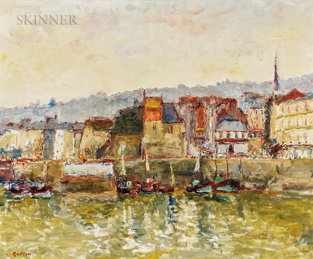 Arthur Fillon (French, 1900-1974)    Honfleur, le Port