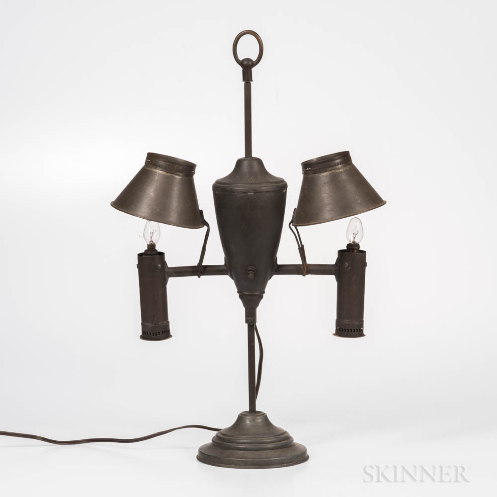 Tin Double-shade Lamp