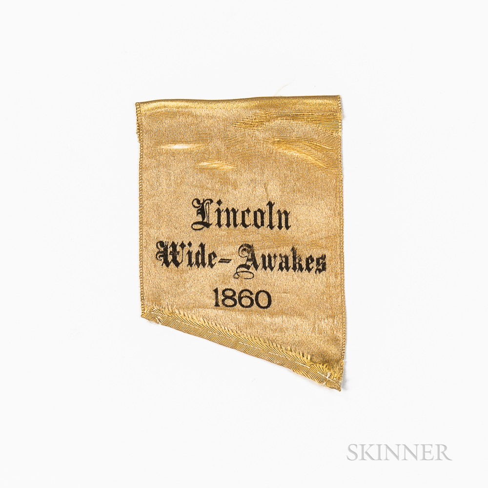 """""""Lincoln Wide-Awakes"""" Campaign Ribbon Fragment"""